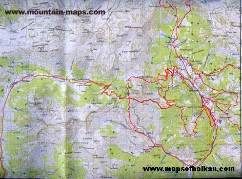 Karta Na Makedonija. Mountain Maps - The Alps,
