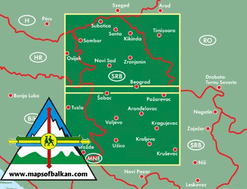 Mountain Maps The Alps Russia Bulgaria Romania Serbia